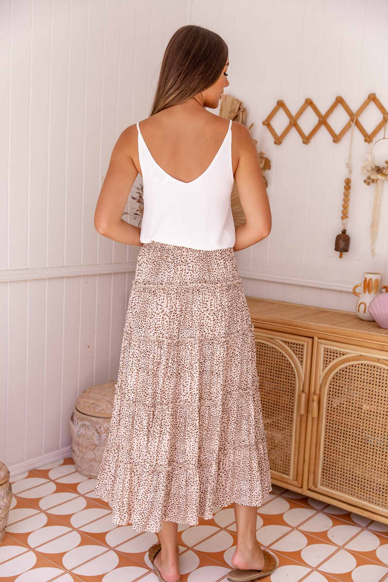 HAVANA MAXI SKIRT - ANIMAL PRINT
