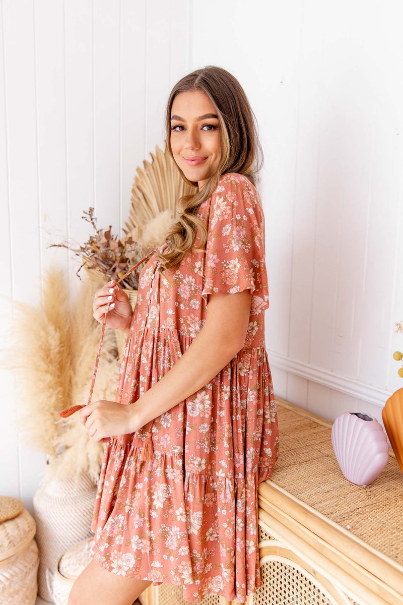 BYRON BOHO DRESS - MOCHA