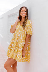 KAYLEE TUNIC DRESS - YELLOW FLORAL
