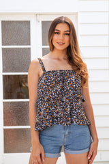 ZEKE TOP - BLACK FLORAL
