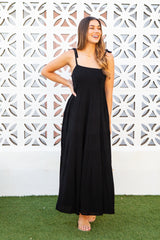 CHARLIE MAXI DRESS - BLACK