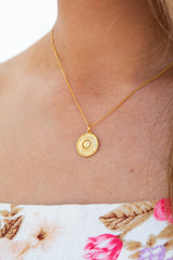 ANJA COIN PENDANT NECKLACE - by Saint Lucia