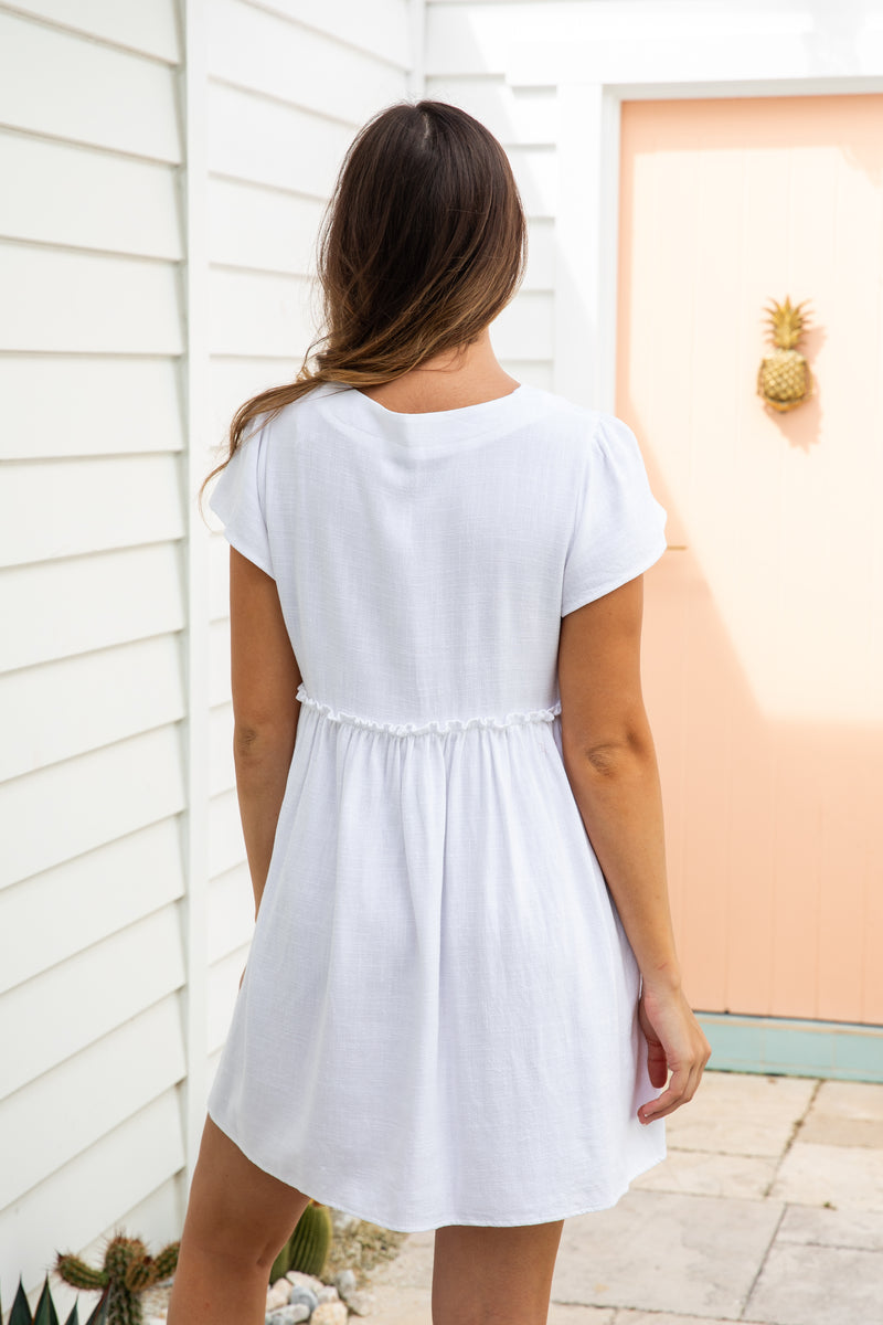 VENICE TUNIC DRESS - WHITE