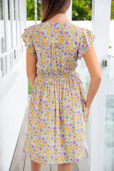 MARNIE DRESS - PURPLE FLORAL