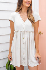 VENICE TUNIC DRESS - OATMEAL