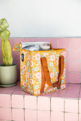 KOLLAB COOLER BAG - RETRO AQUA FLORAL