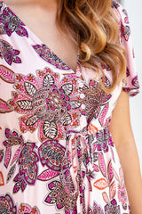 ELLIOT BOHO MAXI DRESS - PINK PAISLEY