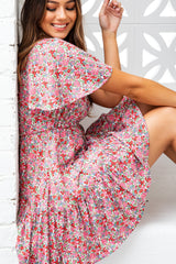 LIA DRESS - WHITE FLORAL