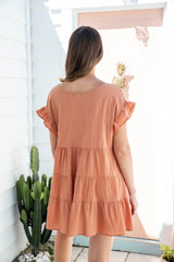 OAKLEY TUNIC DRESS - CARAMEL