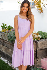 MOLLIE MIDI DRESS - LAVENDER