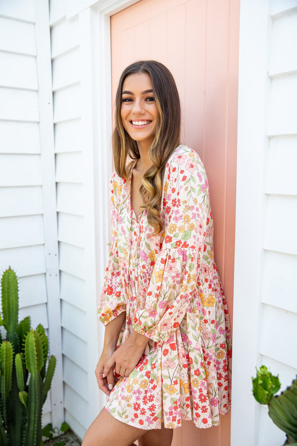 HOLLY BOHO DRESS - MULTI FLORAL