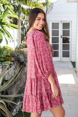 BLAIR BOHO DRESS - MAGENTA