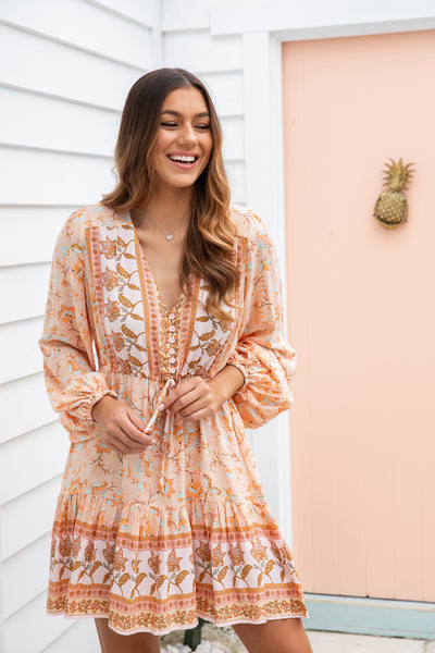 GRACIE DRESS - PEACH