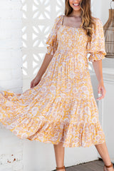 SOFIA MIDI DRESS - PAISLEY