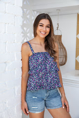 ZEKE CAMI TOP - NAVY