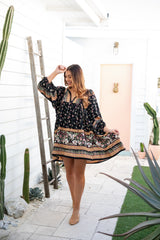ADELA BOHO SMOCK DRESS - JAASE