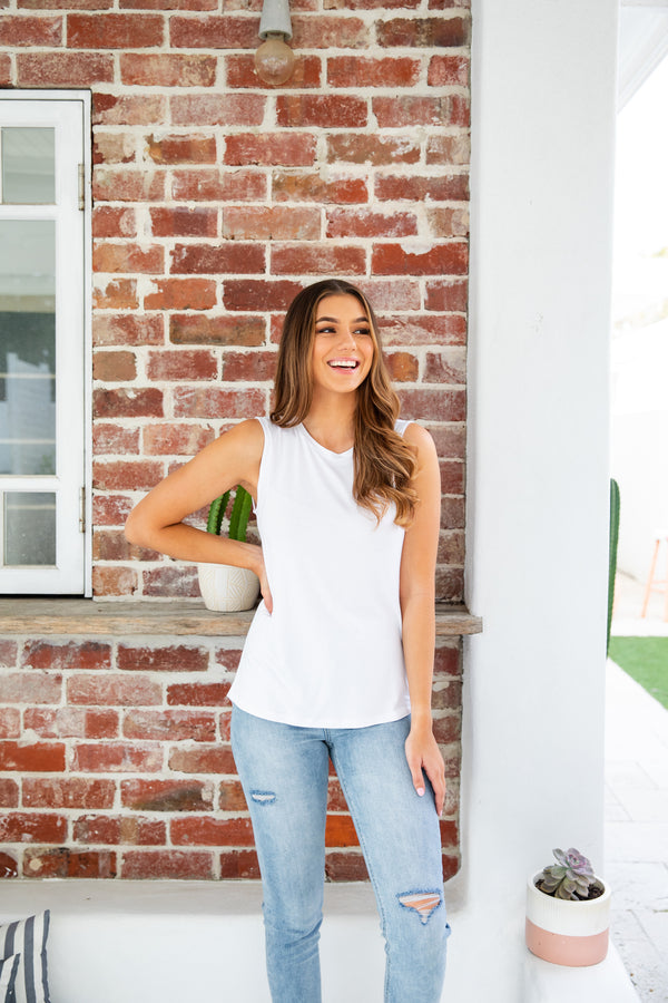 CAPRI TANK TOP - WHITE