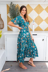 ELLIOT BOHO MAXI DRESS - EMERALD