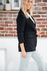JAX BLAZER JACKET - BLACK