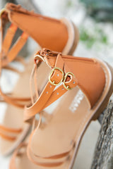 SKYLAH GLADIATOR SANDALS - TAN