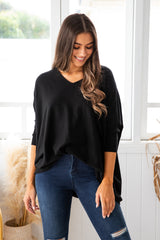 ASHLYN KNIT - BLACK - The Self Styler