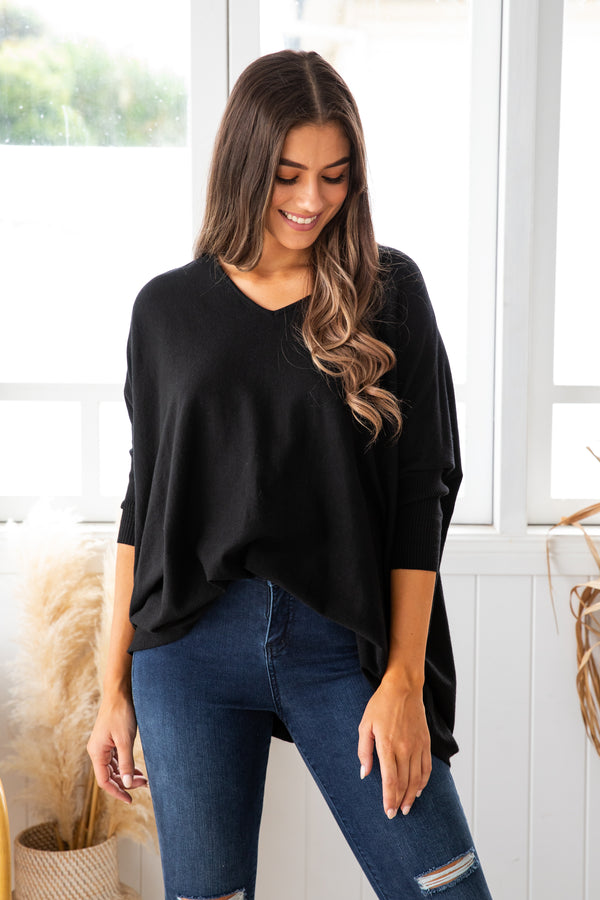 ASHLYN KNIT - BLACK