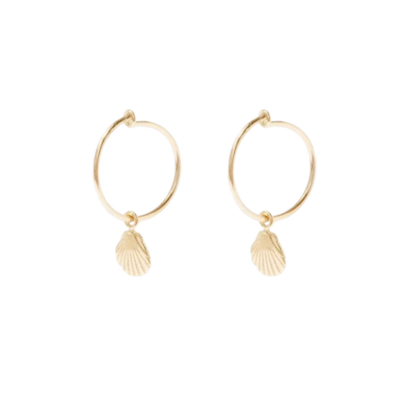 VEA SHELL HOOP EARRINGS - by Saint Lucia