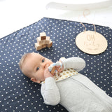 Baby Play Mat - Organic Navy Botanical