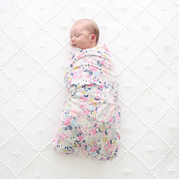 Baby Swaddle Blanket in Floral Garden