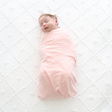 Baby Swaddle Blanket in Pastel Pink
