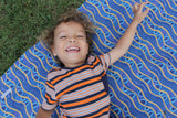 Indigenous Art Fabric Play Mat - Gathering By The River