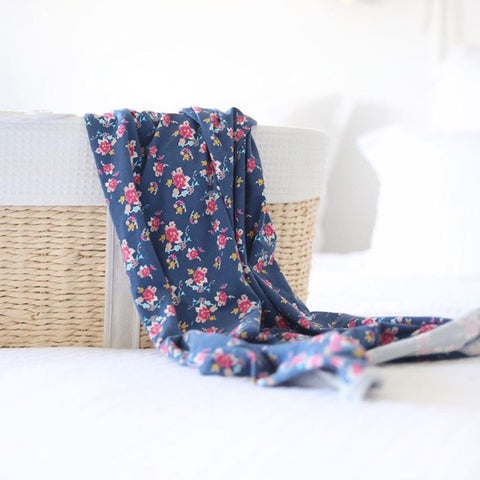 Baby Swaddle Blanket in Vintage Floral