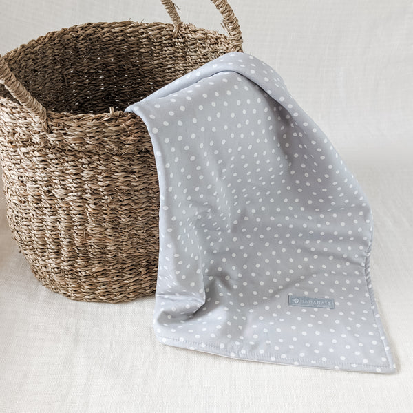 Portable Baby Change Mat - Organic - Grey Dots