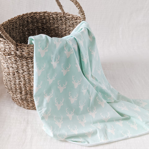 Baby Swaddle Blanket - Mint Moose