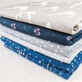 Portable Baby Change Mat - Navy Floweret