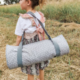 Portable Nap Mat - Organic - Grey Dots