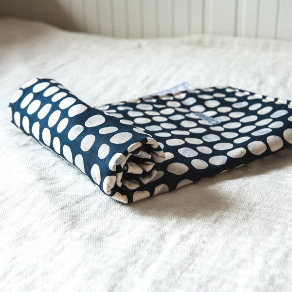 Portable Baby Change Mat - Indigo Pebbles