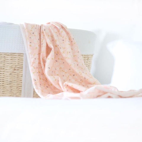 Baby Swaddle Blanket in Pink Floral