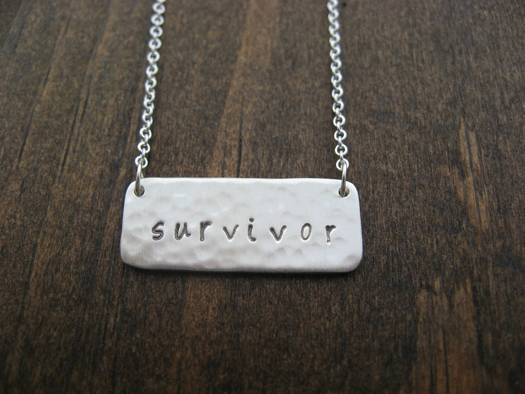 stamped survivor necklace