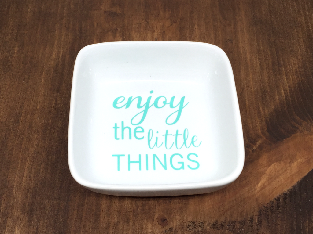 enjoy the little things ring dish