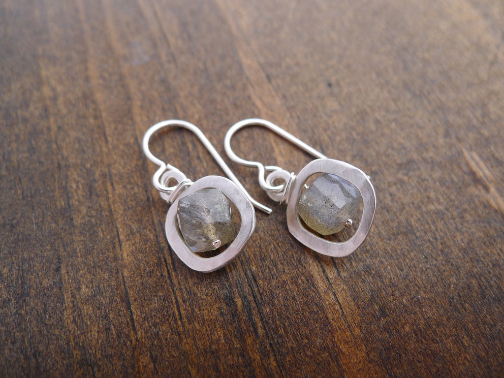 square labradorite earrings