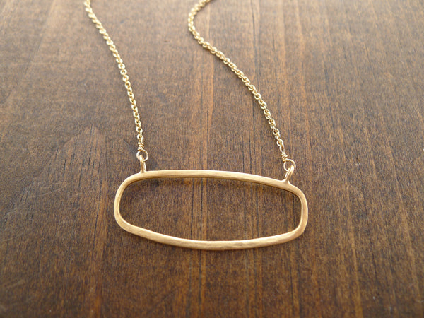 rectangle necklace in vermeil