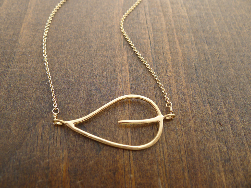 14k gold vermeil hammered leaf