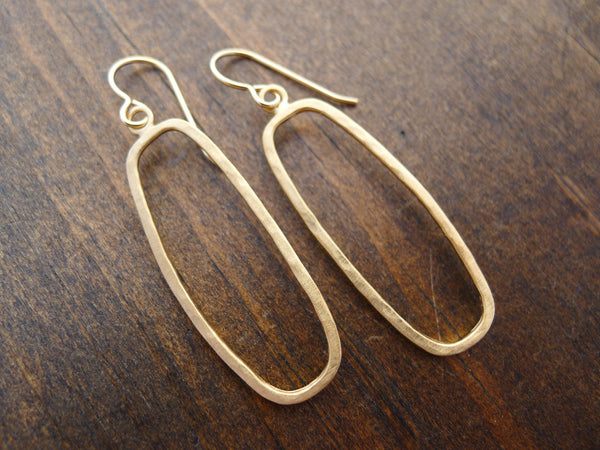 long rectangle earrings in vermeil