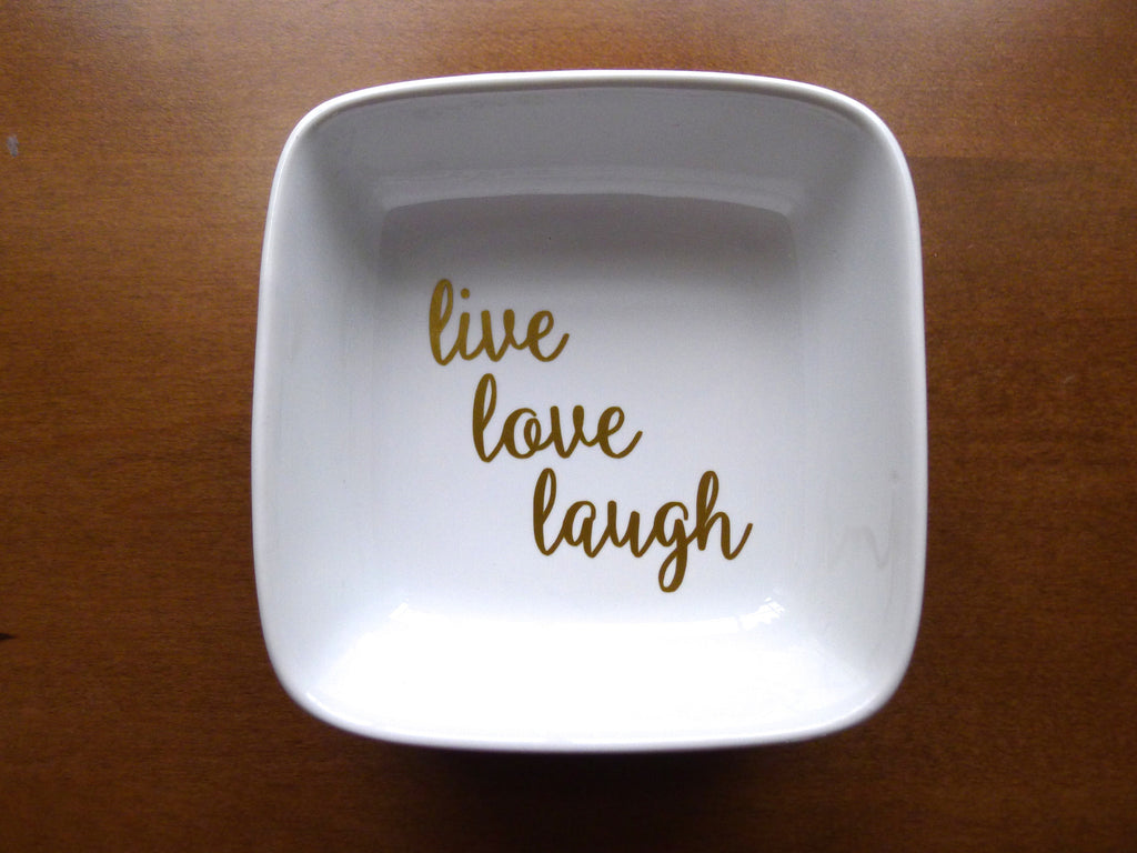 live love laugh ring dish