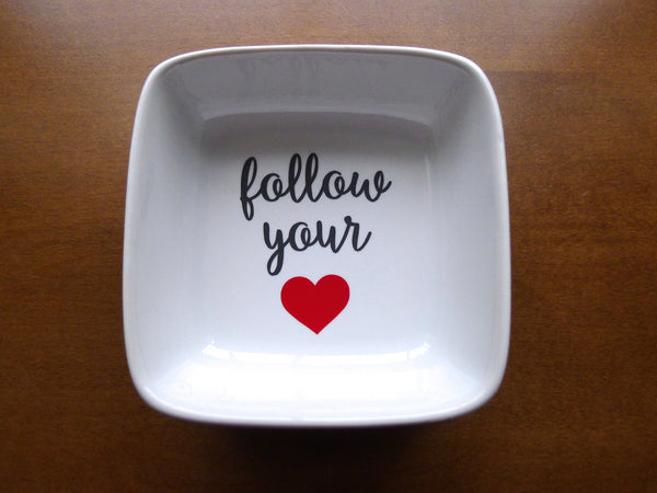 follow your heart ring dish