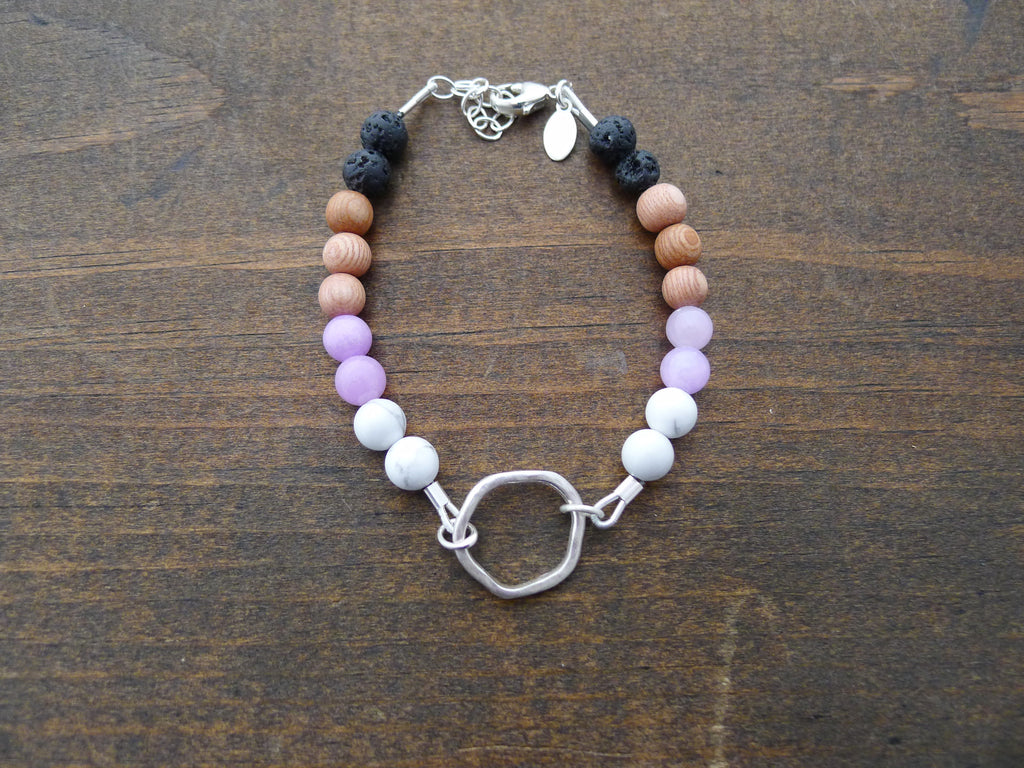 small organic circle doTERRA inspired diffuser bracelet