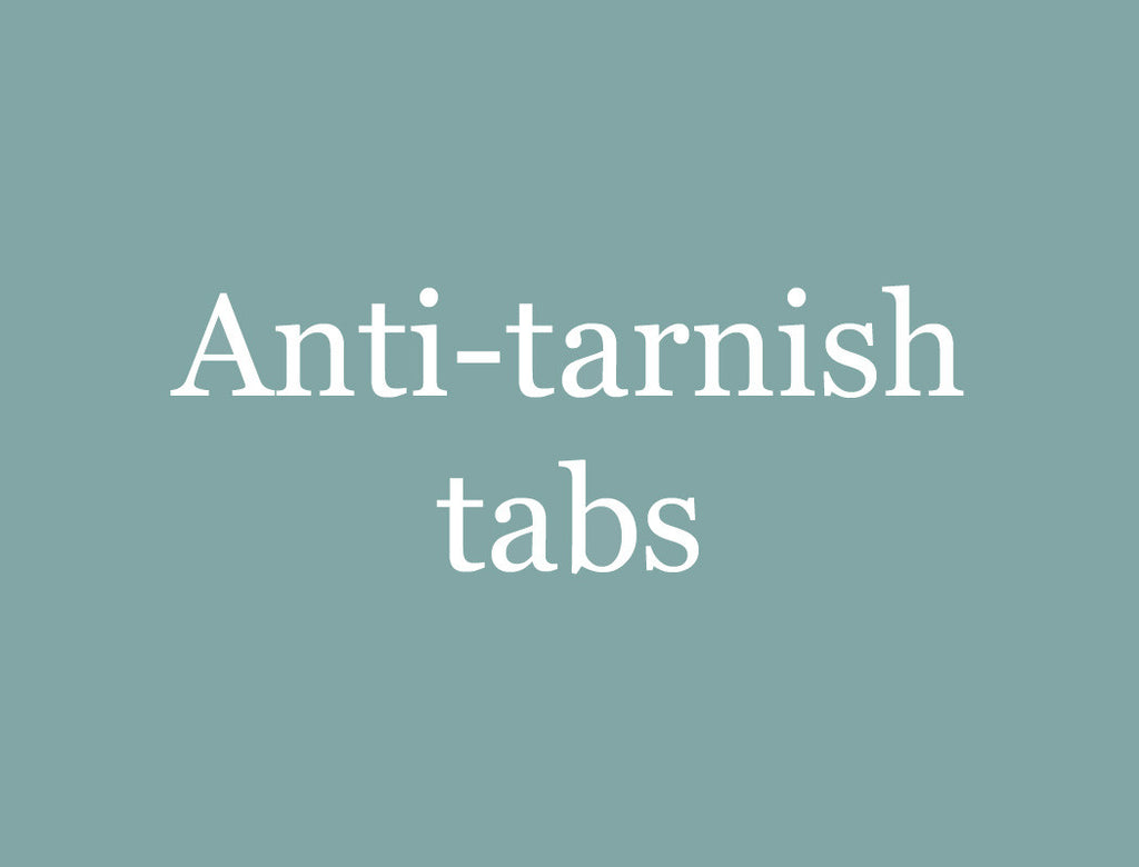 anti-tarnish tabs