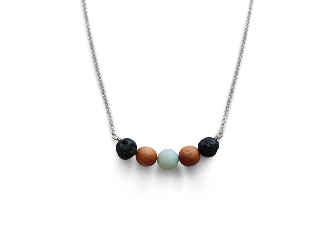 beaded diffuser necklace