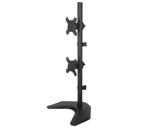 "LCD Dual Monitor Vertical Positioned Desk Stand Standing for Screens up to 30"" (Black) EF002V"
